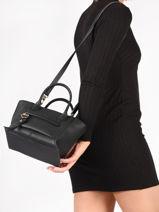 Longchamp Mailbox Sac porté main Noir-vue-porte