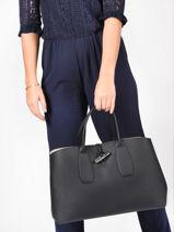 Longchamp Roseau Sac porté main Noir-vue-porte