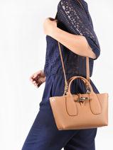 Longchamp Roseau Sac porté main Marron-vue-porte