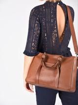 Longchamp Longchamp 3d zip Sac porté main Marron-vue-porte