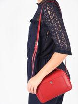 Longchamp Le foulonné Sac porté travers Rouge-vue-porte