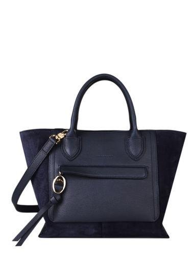 Longchamp Mailbox soft Sac porté main Bleu
