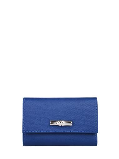 Longchamp Roseau Portefeuille Blauw