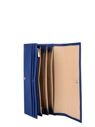 Longchamp Roseau Portefeuille Blauw-vue-porte