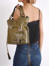 Bucket Bag M Premier Flirt Lancel Groen premier flirt A10110-vue-porte