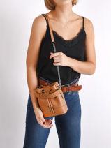 Mini Bucket Bag Ninon Leder Lancel Bruin ninon A11466-vue-porte