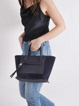 Longchamp Mailbox soft Sac porté main Bleu-vue-porte