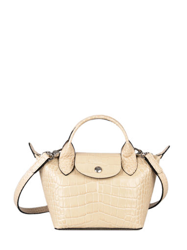 Longchamp Le pliage cuir croco Sac porté main