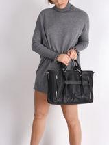 Longchamp Longchamp 3d perfecto Sac porté main Noir-vue-porte