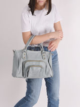 Sac à Main Pop Cuir Basilic pepper Bleu pop BPOC22-vue-porte