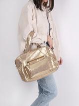Sac Shopping Andrea Cuir Pieces Or andrea 17102834-vue-porte