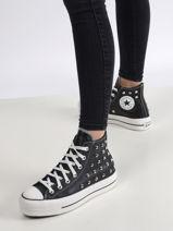 Chuck taylor all star lift hi black sneakers -CONVERSE-vue-porte