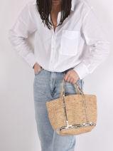 Sac à Main Le Cabas Raffia Et Paillettes Vanessa bruno cabas raphia 64V40435-vue-porte