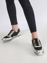 Metallic platform sneakers leder-TAMARIS-vue-porte