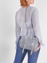 Cross Body Tas Vintage Leder Vintage Leder Mila louise Blauw vintage 3017X-vue-porte