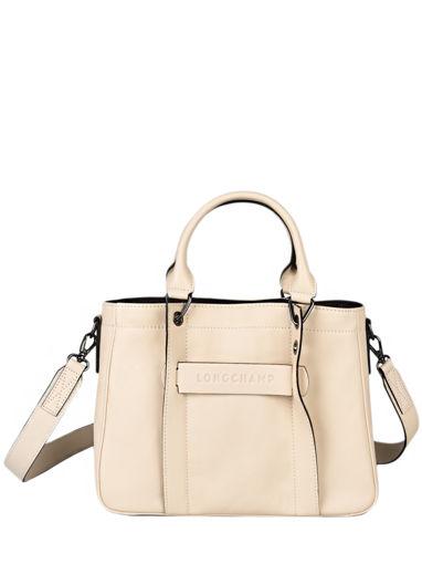 Longchamp Longchamp 3d zip Handtas Beige
