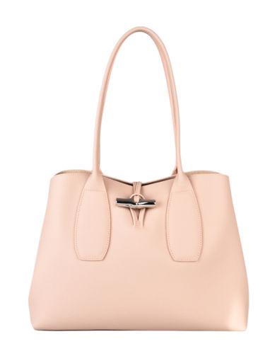 Longchamp Roseau Schoudertas Roze