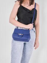 Longchamp Roseau Sac porté travers Bleu-vue-porte