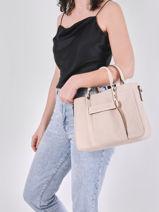 Longchamp Longchamp 3d zip Sac porté main Beige-vue-porte