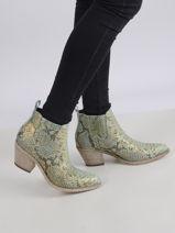 Boots talon santiags en cuir-SEMERDJIAN-vue-porte