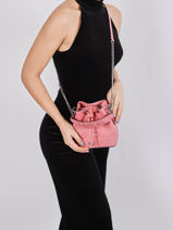 Mini Bucket Bag Ninon Leder Lancel Roze ninon A11466-vue-porte