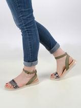 Sandales avec brides en cuir-MJUS-vue-porte