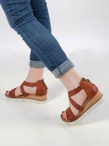 Sandales talon compense uit leder-MJUS-vue-porte