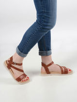 Sandales uit leder-MJUS-vue-porte