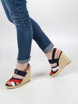 Sandalen met sleehak-TOMMY HILFIGER-vue-porte