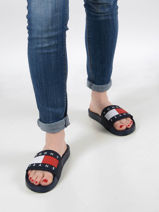 Slippers th essential-TOMMY HILFIGER-vue-porte