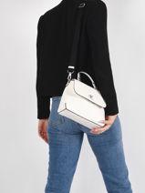 Sac Bandouliere Denim Cuir Calvin klein jeans denim K607480-vue-porte