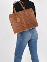 Sac Shopping Croco Caia 1 Compartiment + Pc15
