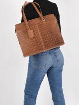 Sac Shopping Croco Caia 1 Compartiment + Pc15