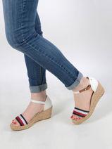Sandalen met lage sleehak-TOMMY HILFIGER-vue-porte