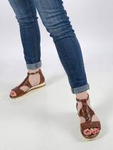 Sandalen met lage sleehak leder-TAMARIS-vue-porte