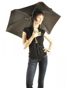 Parapluie Isotoner Noir auto mini 09145-vue-porte