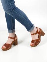 Sandalen met studs leder-UNISA-vue-porte