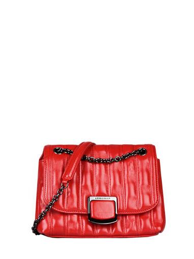 Longchamp Brioche Sac porté travers Rouge