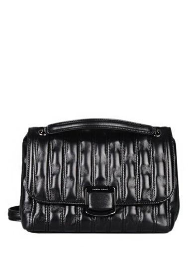 Longchamp Brioche Sac porté travers Noir