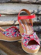 Sandalen met sleehak-TAMARIS