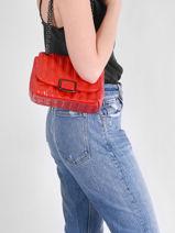Longchamp Brioche Sac porté travers Rouge-vue-porte