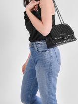 Longchamp Brioche Sac porté travers Noir-vue-porte
