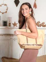 Le Cabas Moyen ++ Paillettes Vanessa bruno Jaune cabas 1V40315
