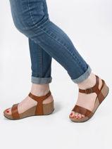Sandales so kiss en cuir-PLAKTON-vue-porte