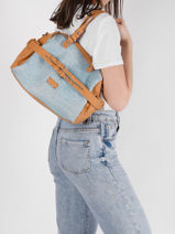 Sac Shopping Calanque Torrow Bleu calanque TCAL03-vue-porte