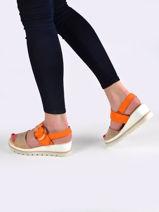 Sandalen met lage sleehak leder-GABOR-vue-porte