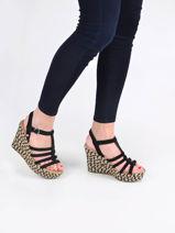 Sandalen met hoge sleehak cressida leder-UGG-vue-porte