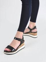 Sandalen met sleehak leder-TAMARIS-vue-porte