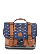 Cartable 2 Compartiments Cameleon Bleu vintage urban PBVBCA35