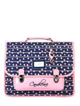 Cartable 2 Compartiments Cameleon Bleu retro PBRECA38